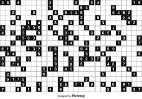 Jeu de puzzle noir et blanc sudoku vecteur