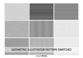 Échantillons géométriques de motif vectoriel