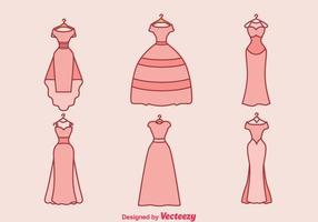 Robe de mariage vecteur