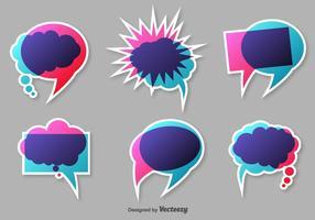 Bulles vectorielles de mots colorés vecteur