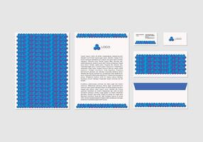 Conception de papier à en-tête vectoriel gratuit