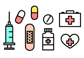 Vecteurs d'icônes médicaux gratuits vecteur