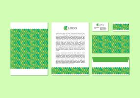 Conception gratuite de tête de timbre vecteur vert