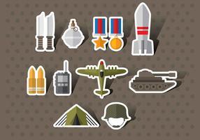 Vecteurs d'icônes de la Seconde guerre mondiale vecteur