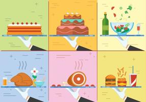 Free Flat Design Vector Food