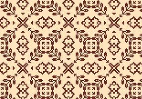 Couture motif floral marron vecteur