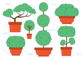 Ensemble de vecteur arbre gratuit Bonsai