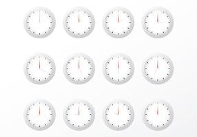 Vecteurs d'horloge gratuits