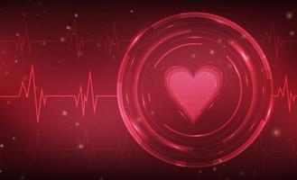 Coeur moniteur vecteur libre fond