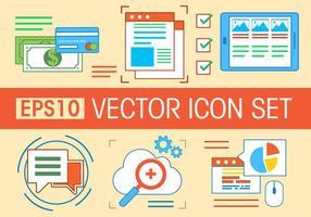 Ensemble d'icônes vectoriels gratuits vecteur