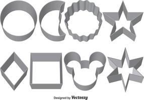 Ensemble de coupe-biscuits vectoriels vecteur