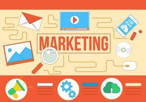 Icônes de vecteur de marketing gratuit