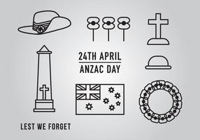 Anzac Day Element Vectors