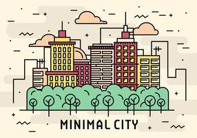 Flat Line Minimal City Vector