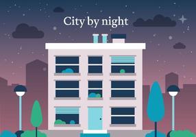 Ville vectorielle gratuite de nuit vecteur