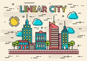 Vecteur de ville linéaire gratuit