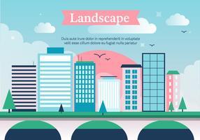 Paysage vectoriel gratuit de la ville