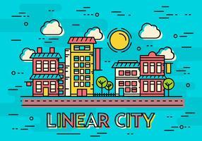 Paysage vectoriel gratuit de la ville linéaire