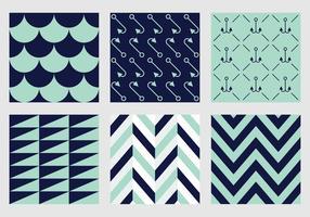 Free Vector Marine Patterns 1