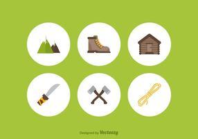 Icônes gratuites de vecteur alpiniste