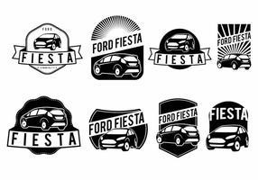 Ensemble de badge Ford Fiesta vecteur