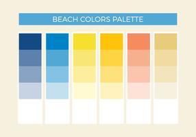 Palette vectorielle gratuite de couleurs de plage
