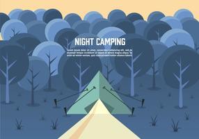 Vecteur paysage nocturne gratuit