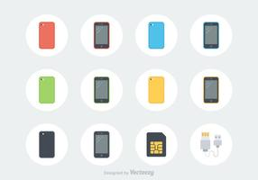 Icônes vectorielles gratuites pour les téléphones intelligents vecteur