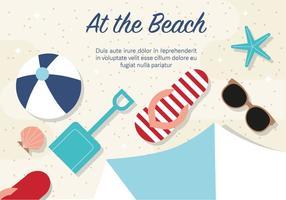 Illustration vectorielle de plage gratuite