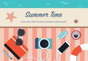 Vecteur gratuit de l'heure d'été