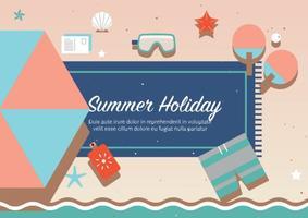 Vecteur gratuit de vacances d'été