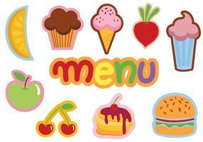 Vecteurs de menus pour enfants gratuits vecteur