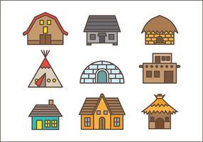 Vecteur d'icône de cabane gratuite