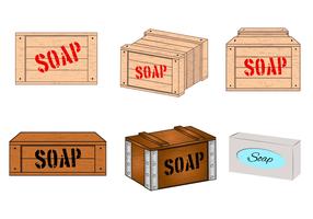 Vecteur boîte à savon gratuit