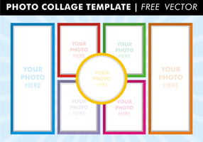 Photo collage templates free vector