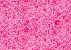Motif de fleurs à répétition rose vecteur
