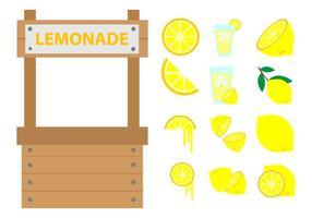 Vector de stand de limonade gratuit