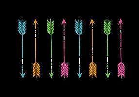 Vecteurs de flèches de néon vecteur
