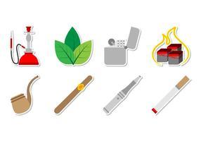 Vecteur gratuit d'icônes de tabac