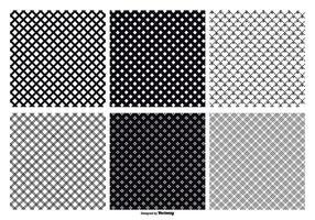 Patterns vectoriels sans soudure Crosshatch vecteur