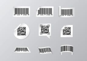 Étiquette de scanner de codes à barres gratuite vecteur