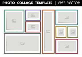 Photo collage template vectoriel gratuit