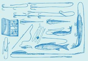 Outils et objets de pêche vecteur
