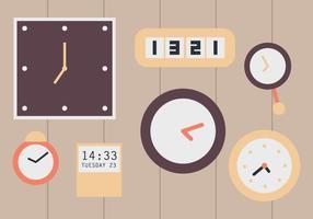 Horloges murales vecteur