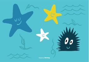 Vecteurs de la créature de la mer
