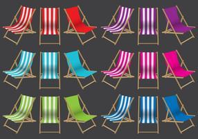Chaises de pont colorées vecteur