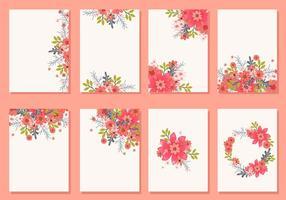 Vecteurs de cartes d'invitation de mariage floral vecteur