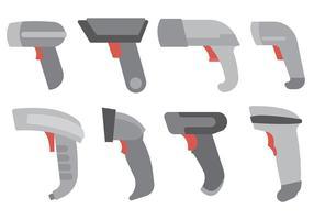 Vecteur d'icônes de scanner de code à barres gratuit