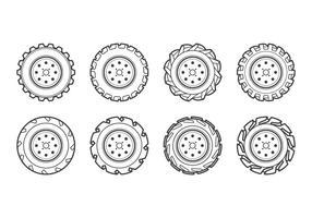 Vecteur d'icône de pneu tracteur gratuit