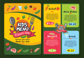 Modèle de menu Kids Colorful Kids vecteur